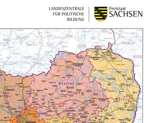101b Teilansicht Handkarte Freistaat Sachsen