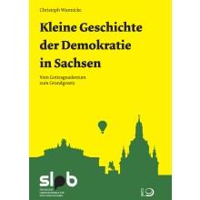 Titelseite Kleine Geschichte der Demokratie in Sachsen