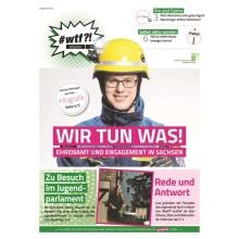 """Titelseite klein 1125 wtf-Magazin 14 """"Wir tun was! Engagement und Ehrenamt in Sachsen"""""""