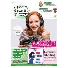 """Titelseite von 1124 wtf-Magazin 12 (Ausgabe 2/2020) """"Abgezockt - Die Games-Ausgabe"""""""