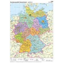 401 Deutschlandkarte (physisch/politisch)