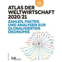 Titelseite Atlas der Weltwirtschaft 2020/21. Zahlen, Fakten und Analysen zur globaliserten Ökonomie