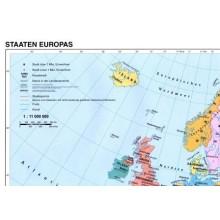 Teilansicht von 801 Europakarte physisch/politisch